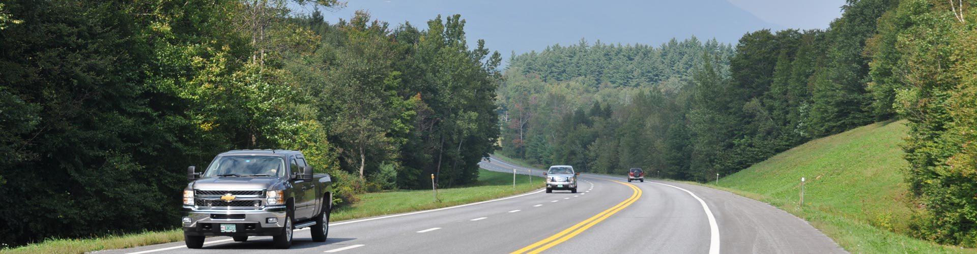 Mit dem Auto unterwegs in Vermont, Neuengland