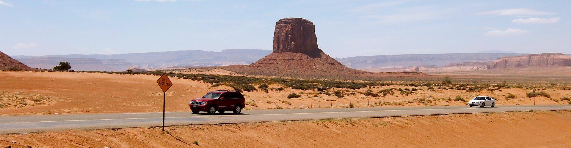 Fahrt ins Monument Valley, Utah