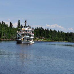 River Boat am Chena River, Fairbanks
