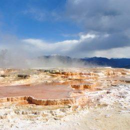 Die Kalksinterterrassen von Mammoth Hot Springs