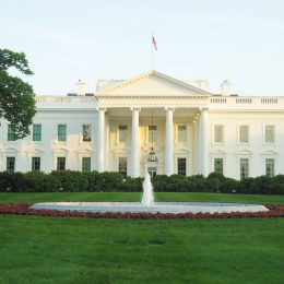 Rückseite des Weißen Hauses