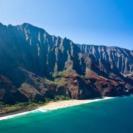 Blick auf die Küste von Kauai
