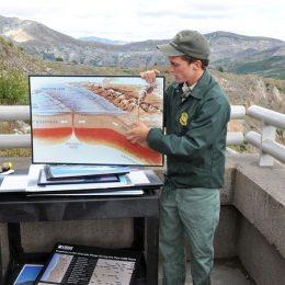 Erklärungen durch Ranger im Mount St. Helens Volcanic National Monument