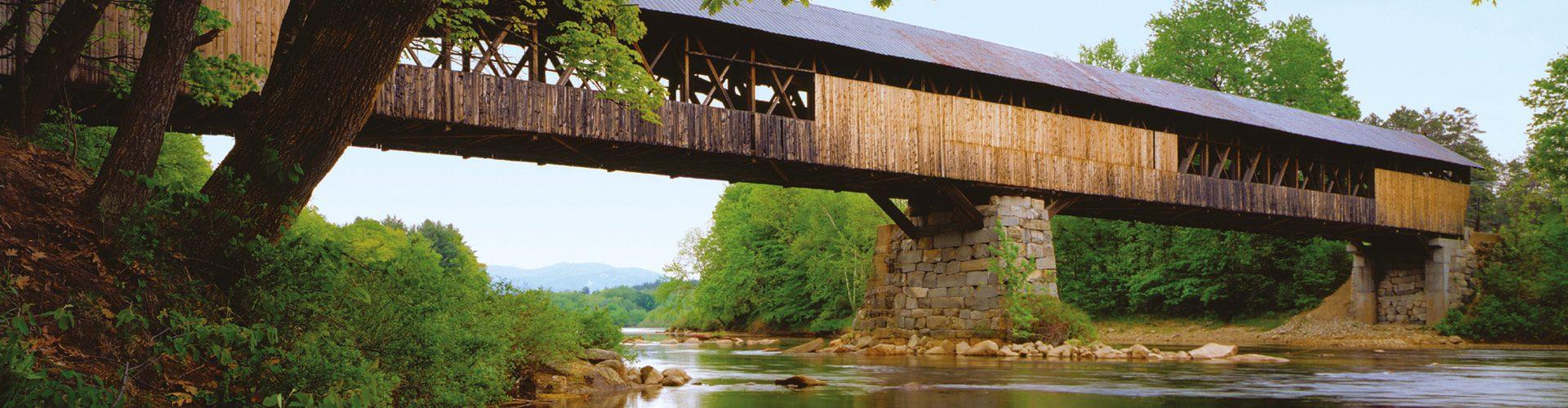 Überdachte Brücke in New Hampshire
