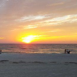 Anna Maria Island, Sonnenuntergang bei Bradenton Beach