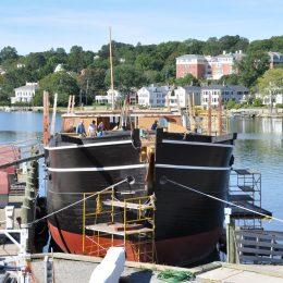 Die Charles W Morgan, das berühmteste Walfangschiff der damaligen Zeit