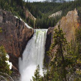 Spektakulärer Wasserfall am Yellowstone River