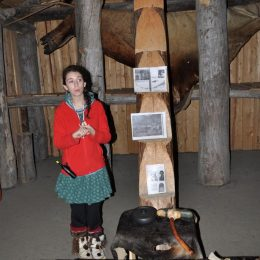 Ein Wohnhaus der Inuit