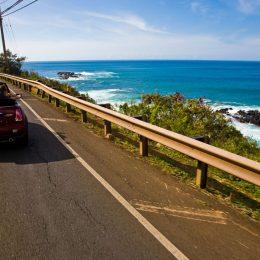Fahrt entlang der Küste
