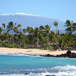 Weißer Sandstrand auf Hawaii Island