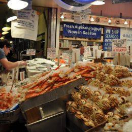 Der berühmte Fischmarkt im Pike Place Market
