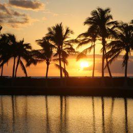 Sonnenuntergang, Hawaii Island