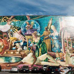 Berühmte Wandgemälde der Mural Mile