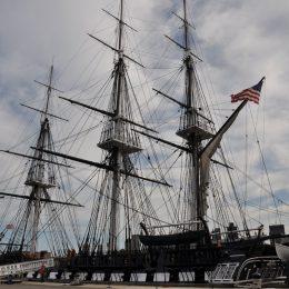 Das berühmte Schiff USS Constitution