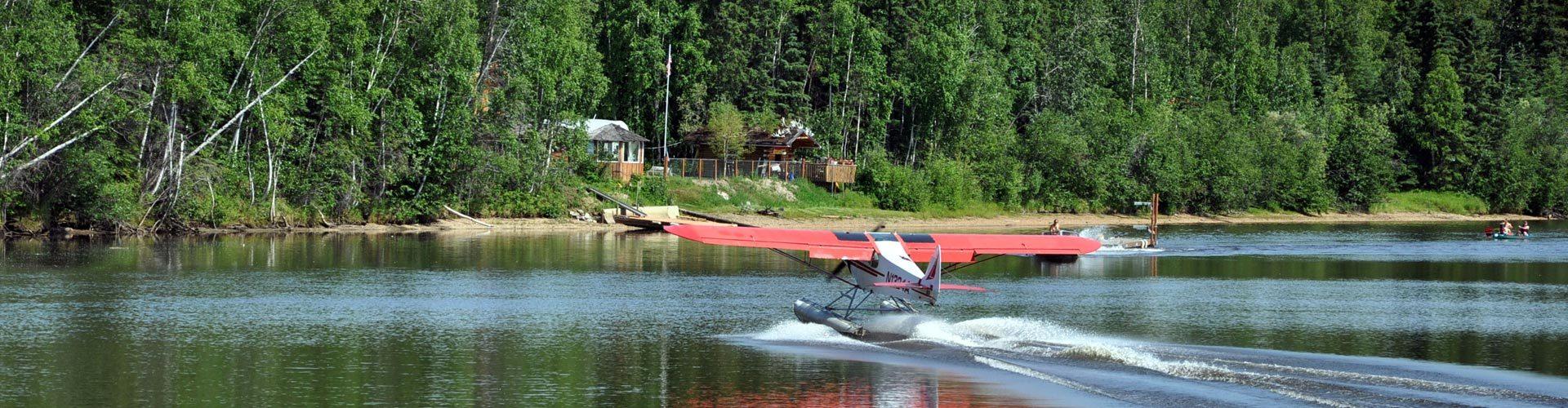 Wasserflugzeug am Chena River, Fairbanks