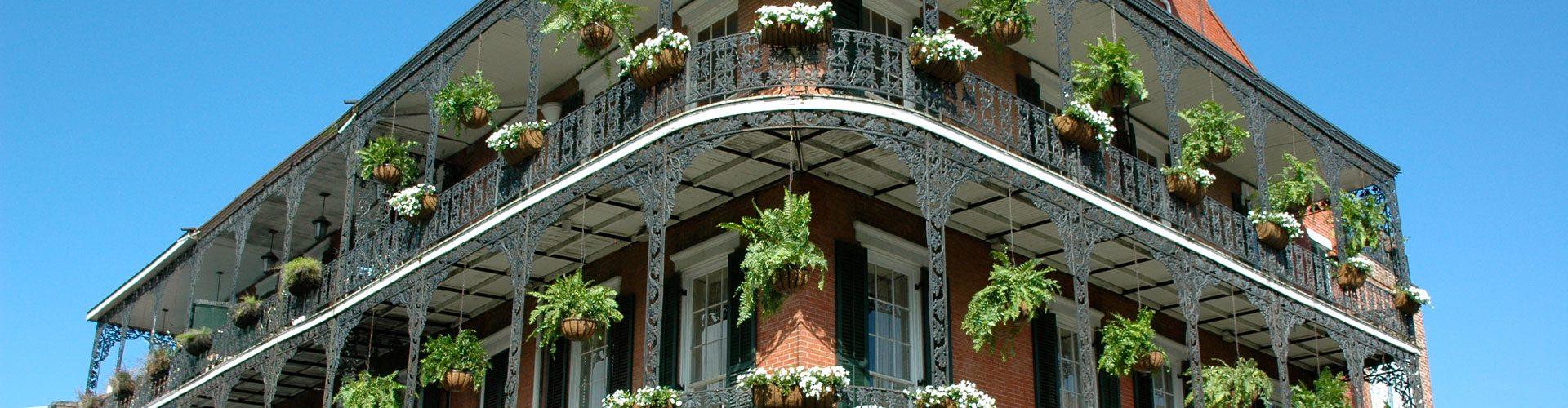 Die schmiedeeisernen Balkone des French Qurater, New Orleans