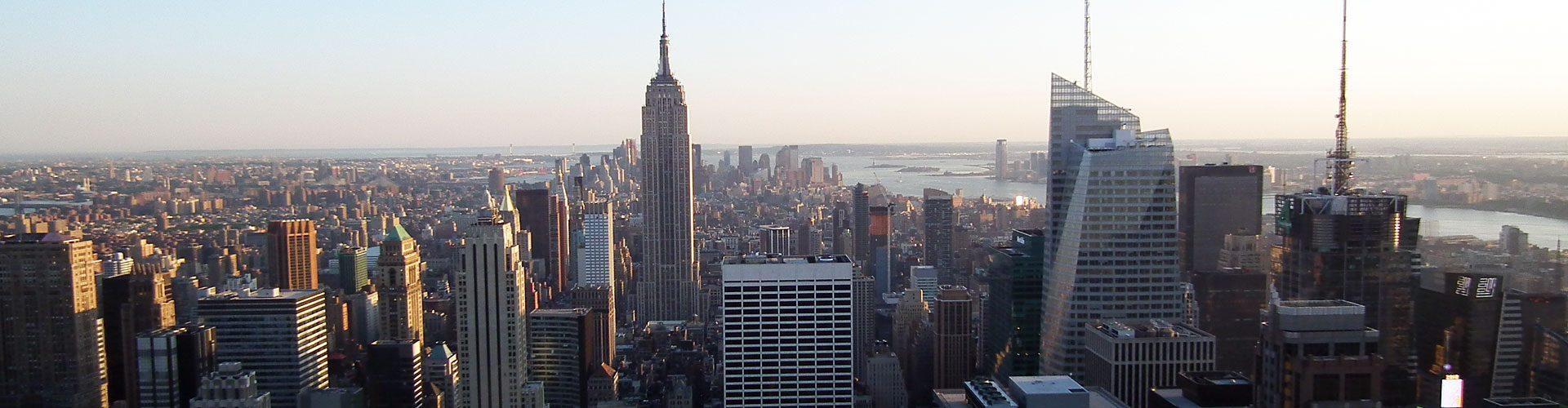 Manhattan von oben, mit Chrysler Building, New York City