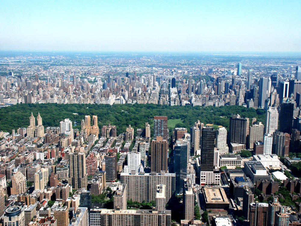 Manhattan mit Central Park, New York City
