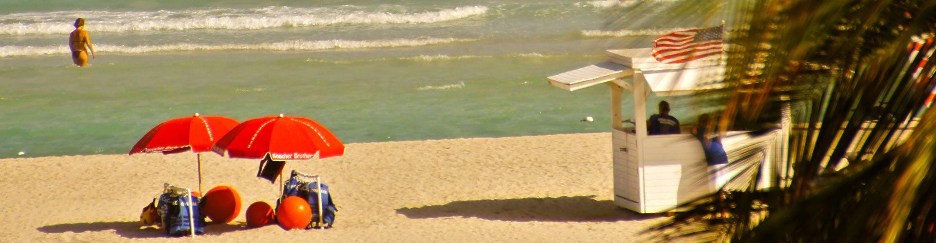 Karibikfeeling am Strand von Miami Beach, Florida