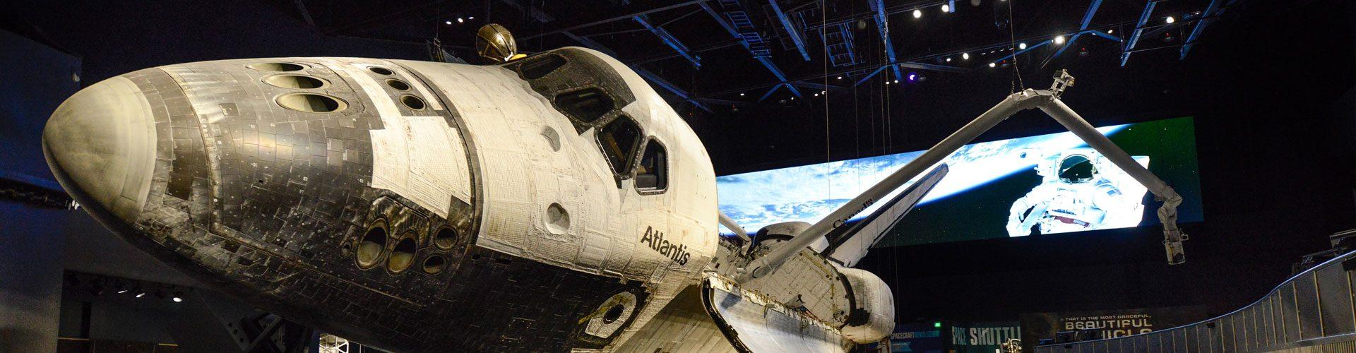 Ausstellung über das Raumschiff Atlantis, Orlando, Florida