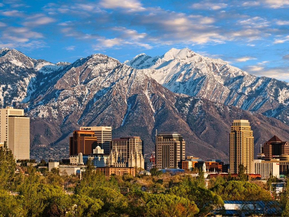 Skyline von Salt Lake City, Utah